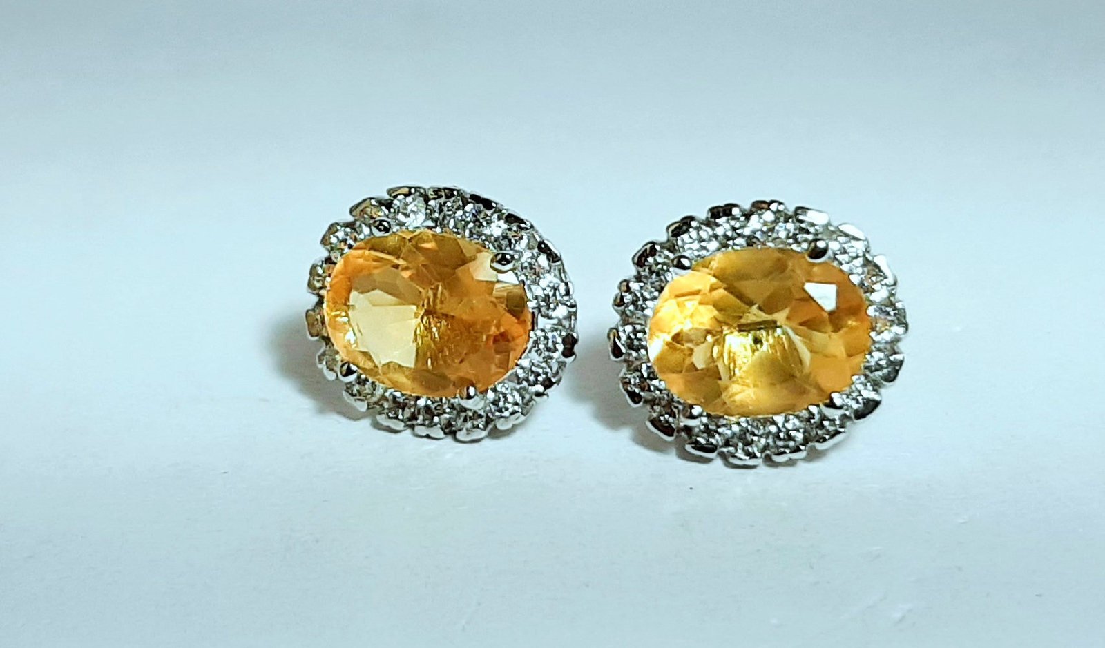 925 Sterling Silver Natural A+ Quality Citrine And Cz Gemstone Handcrafted Desig image 5