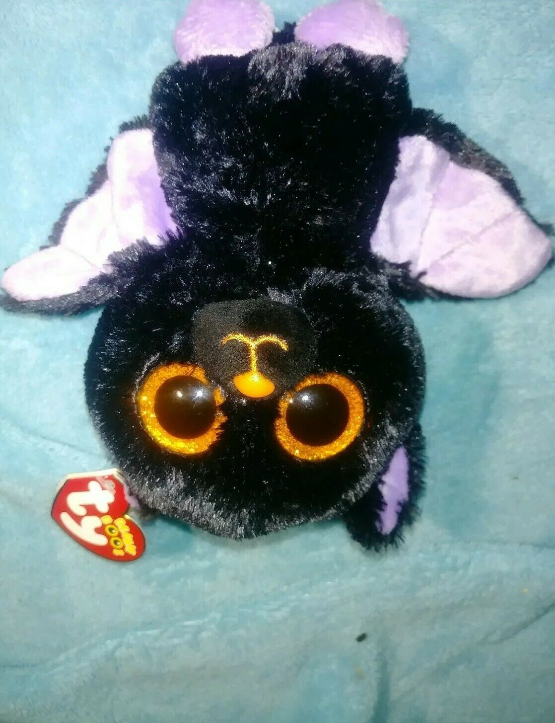 """6/"""" TY Beanie Boos Glitter Eyes Count Purple Bat With Tag Gift Sparkle Plush Toys"""