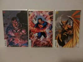 JIM LEE JUSTICE LEAGUE COVERS - SUPERMAN,CYBORG & HAWKGIRL COVERS FREE S... - $18.70