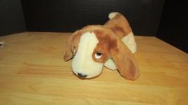 Ty Beanie Buddy Tracker Dog Puppy Plush White Brown Basset Hound buddies... - $7.91