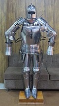 Medieval Knight Barbute Suit Of Armour Wearable Halloween Costume - $799.00