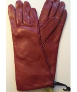 """Ladies {Fownes 11"""" Long} Leather Gloves*,Red,Medium - $29.69"""