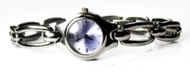 Women's Fossil F2 Purple Dial ES9014 Gun Metal 22mm Quartz Wristwatch - $14.84
