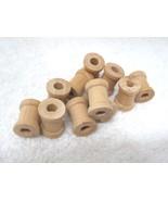 "11 Older Tiny Wood Thread Spools 5/8"" x 1/2"" D2 - $12.38"