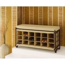 Shoe Storage Cubby Bench Shelves Organizer Home Hallway Bedroom Furnitur... - $160.79