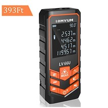LOMVUM Digital Laser Measurement - 393ft Laser Distance Meter Mute Function with