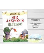 Medieval Knights Welcome Sign, Knights Birthday Party, Digital or Printe... - $9.95+