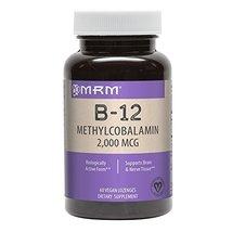 MRM Vitamin B-12 Methylcobalamin Sublingual Tablets, 2000 mcg., 60 Lozenges image 3