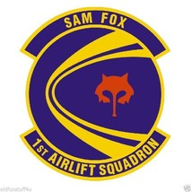 1ST Airlift Squadron Sam Fox Vinyl Decal Sticker Military Armed Forces R464 - $1.95+