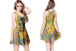 FRANK ZAPPA  WOMENS REVERSIBLE SLEEVELESS SHORT MINI DRESS - $17.99+
