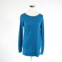 Dark blue ANN TAYLOR exposed seams long sleeve crewneck sweater S - $24.99