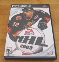 NHL 2003  (Sony PlayStation 2, 2002) - $1.27