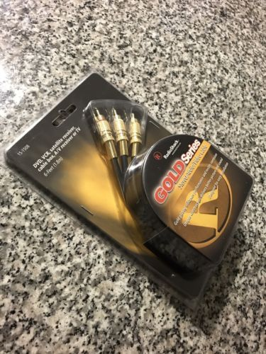 Gold Series Stereo Audio Video Cabel Gold Plated 6ft 1.8m