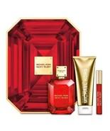 NIB - MICHAEL KORS 3 Piece Sexy Ruby Eau De Parfum 3.4oz Body Lotion Rol... - $89.09
