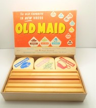 Merdel Game Mfg Old Maid Wooden Game Stands Panel Cards No. 65 Indian Bo... - $199.99