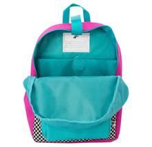 "NEW Yoobi 17"" Checker Color Block Multi-Color Backpack image 3"
