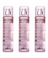 3 Pc Bath & Body Works Pink Coconut Calypso Fragrance Mist Set New - $27.10