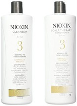Nioxin System 3 Cleanser & Scalp Therapy for Normal to Thin Hair 33.8oz Duo - $54.45