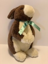 "Commonwealth Plush Standing Bunny Rabbit 11"" Brown Tan Stuffed Animal 1999 - $11.87"
