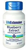 3 PACK Life Extension Blueberry Extract with Pomegranate antioxidant heart - $48.00
