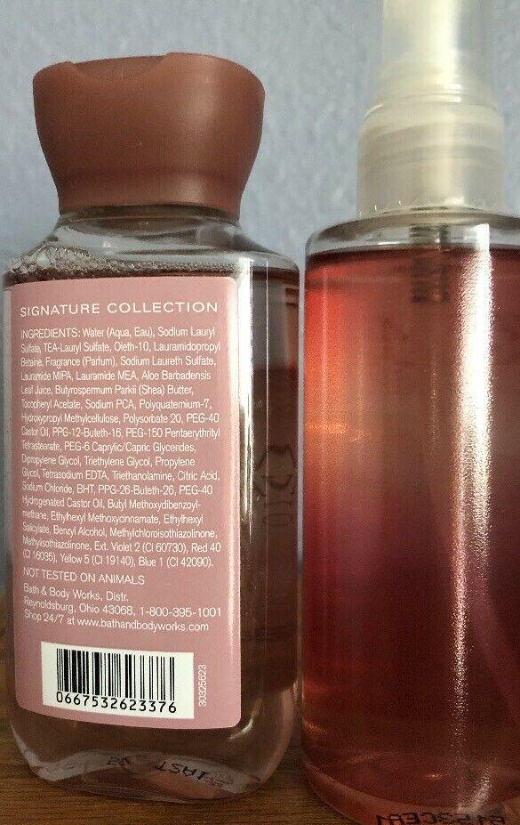 Bath & Body Works Warm Vanilla Sugar Shower Gel Fragrance Mist Set New 3 Oz