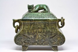 Chinese Carved Stone Large Incense Burner - 8 x 4 x 7 -  - $128.69