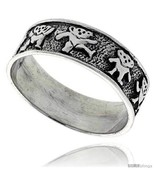 Size 6.5 - Sterling Silver Dancing Bears Ring 5/16 in  - $47.12