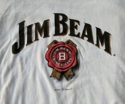 Jim Beam Mens Tultex T-Shirt Size Medium Raglan 3/4 Sleeve Black White C... - $23.36