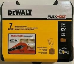 DEWALT DWAFV07SET FLEXVOLT Carbide Wood Drilling Hole Saw Kit 7 Piece - $64.35