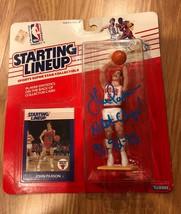 RARE JOHN PAXSON Signed Chicago Bulls Starting Lineup Action Figure PHOT... - $197.99
