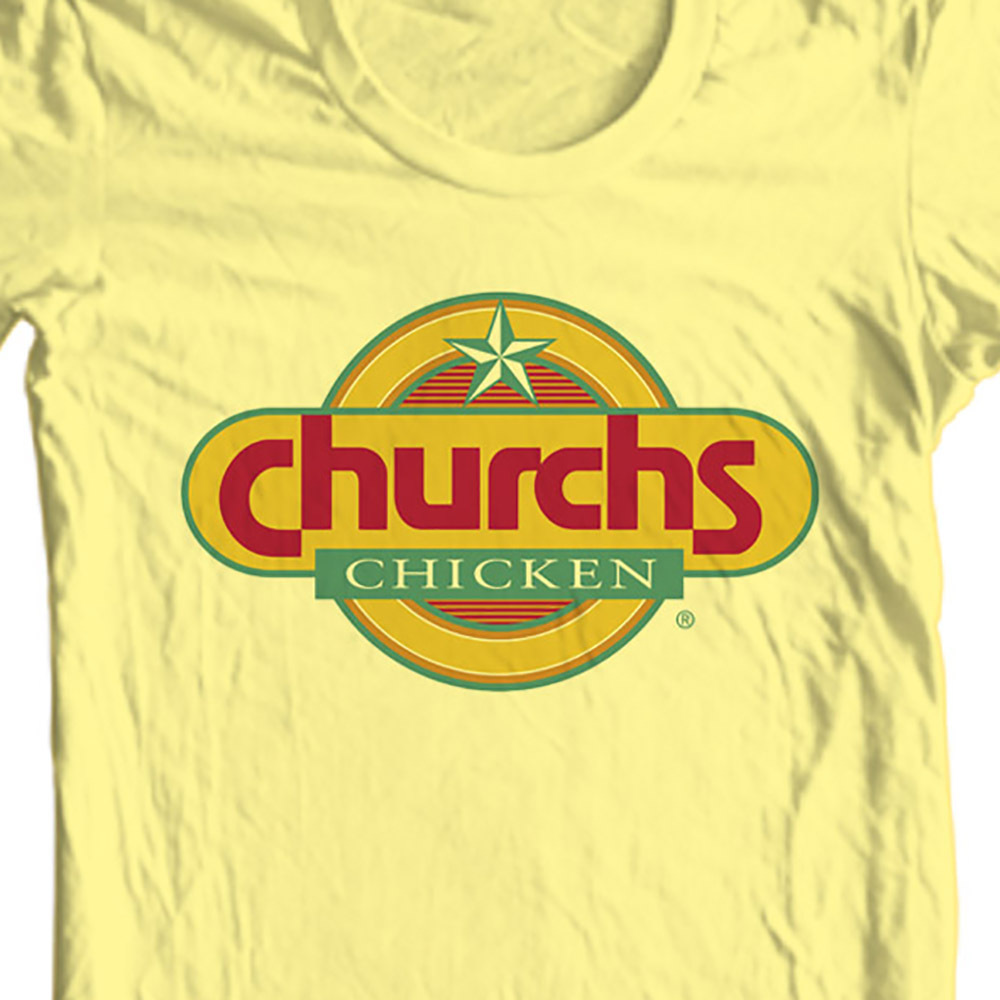 Church s chicken t shirt retro fast food tee for sale online store tees