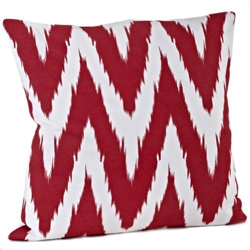Fennco Styles Bail Chevron Decorative Throw Pillow, 100% Cotton, Fillerd Include