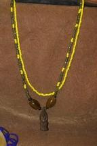 2 Borneo Tribal Ethnic Hand made Kayan Dayak Glass Beads Pearls Luck Nec... - $37.99