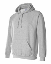 7 Gildan Sports Grey Adult Hooded Sweatshirts Bulk Wholesale Gray Hoodie S-XL - $86.31