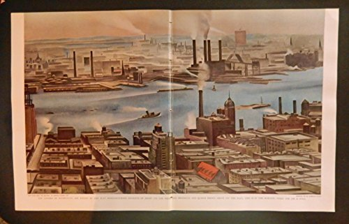 East River from the Shelton by George O'Keefe 1929, scarce 1933 print art. full