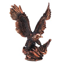 Eagles Statues, Large Majestic Sculpture Eagle Statues Black Rose Golden... - $34.99