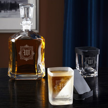 Winchester Decanter and Whiskey Wedge Glass Set - $94.95