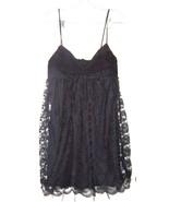 Sz 9 - Love Tease Black Lace Summer Dress w/Padded Bust & Gauzy Overlay ... - $24.24