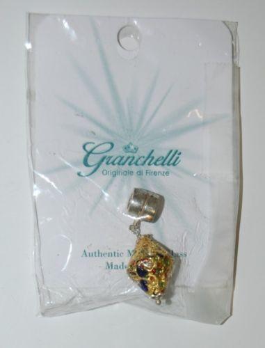 Granchelli Originale Di Firenze Athentic Murano Glass Gold Color Charm