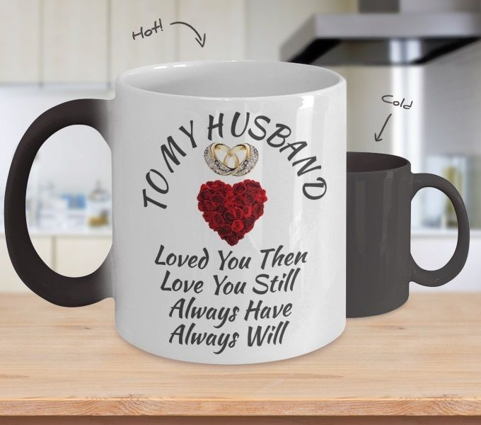 Surprise Birthday Wedding Anniversary Love Gift For Husband Color Changing Mug