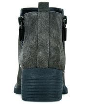 NIB Brand New Ladies Kenneth Cole Levon Asphalt Grey Leather/Suede Ankle Boots image 3