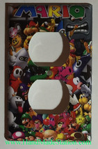 Super Mario All Characters Light Switch Outlet Wall Cover Plate Home decor image 2