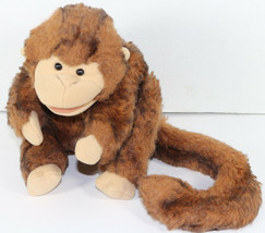 Folkmanis Brown LONG-TAILED Monkey Stage Hand Puppet Pretend Play Plush Soft Toy - $14.84