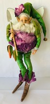 "Mark Roberts Cabbage Fairy Medium 15"" 51-61632-Pur Box + COA Ltd Ed 137/... - $129.65"