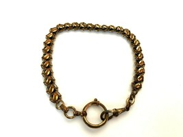 Vintage Antique Brass gilded with wear Chain for Pocket Watch 17.6 gr. - $96.03