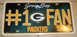 NEW Green Bay Packers License Plate Tag Rico Industries NFL Super Bowl F... - $14.03
