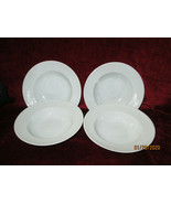 """Fitz & Floyd Classic white fluted set of 4 soup bowls 7 7/8""""  excellent - $49.45"""