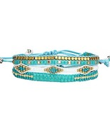 17KM Women Mix Boho Wrap Bracelets Multilayers Crystal Beads Braid Adjus... - $22.88