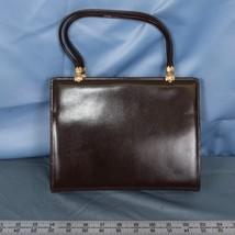 Vintage Saks Fifth Avenue-Brown Leather Handbag France dq - $74.24