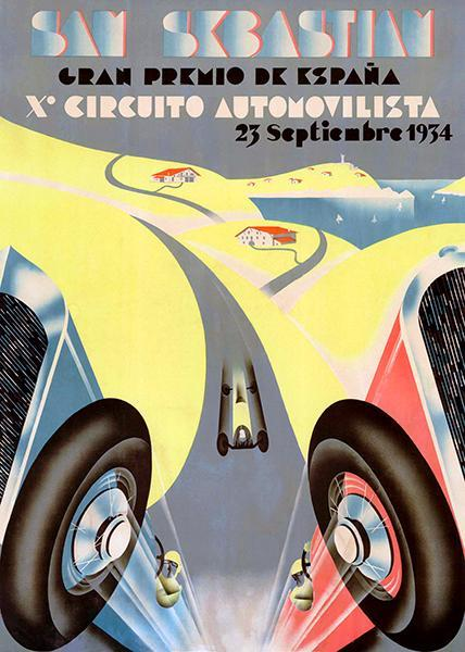 Primary image for 1934 Grand Prix Of Spain - San Sebastian - Promotional Race Poster